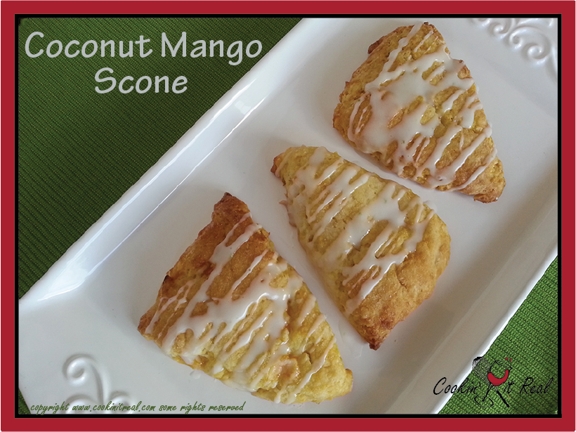 Coconut Mango Scones | Cookin' It Real