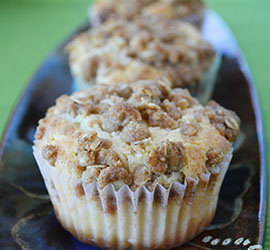 Cinnamon Apple Coffee Cake Muffins