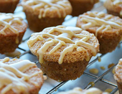 Apple Cider Muffins with Caramel Drizzle