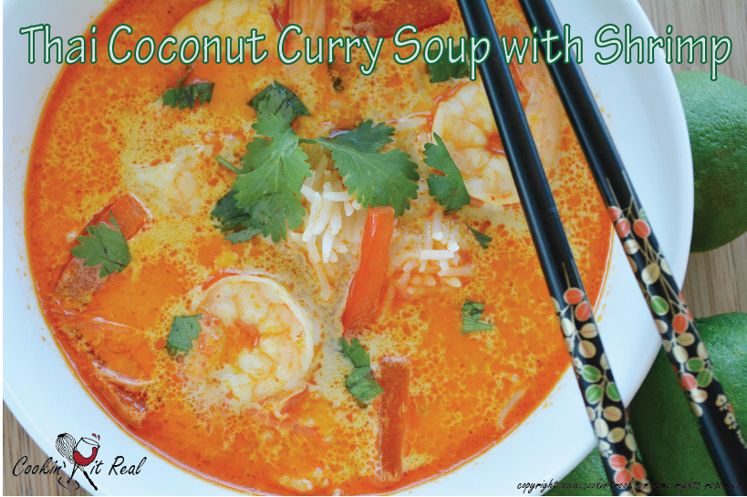 Thai Coconut Curry Soup with Shrimp