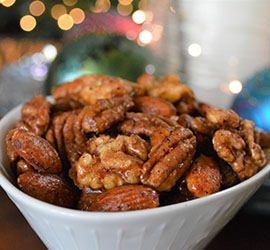 Easy Sweet and Spicy Candied Nuts