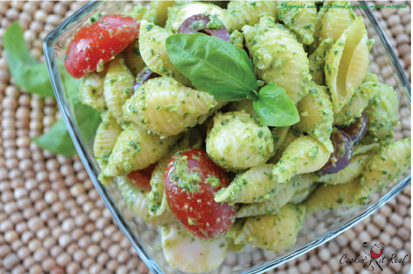 Pasta Salad with Creamy Basil Dressing