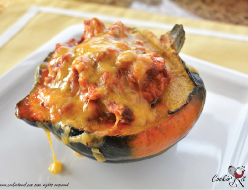 Chicken Enchilada stuffed Acorn Squash